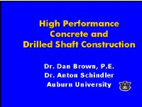 High Performance Concrete and Drilled Shaft Construction - STGEC 2006.png