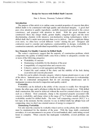 Recipe for Drilled Shaft Concrete - ADSC Foundation Drilling Nov 2004.png