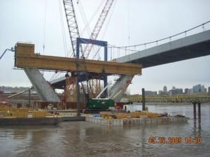Main Pylon under construction for Bond Bridge, Kansas City, MO