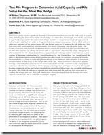 Test Pile Program to Determine Axial Capacity and Pile Setup for the Biloxi Bay Bridge_ThompsonHeldSaye - DFI Journal Vol3-May09