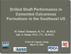 IFCEE09 Drilled Shafts-Calcareous_Thompson_Brown
