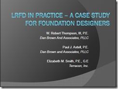 STGEC 41 - LRFD Case History - Thompson