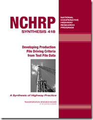 nchrp_syn_418 - pile criteria from test piles
