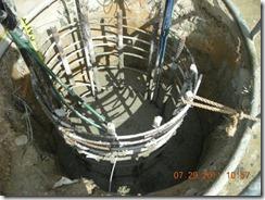 Fig 12 - Test shaft 1 completed