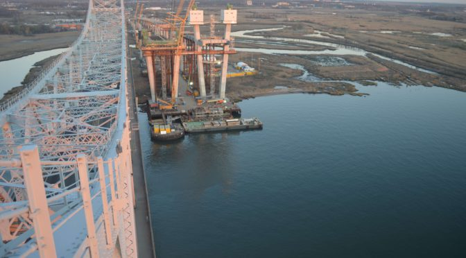 Goethals Bridge – Up and out of the ground