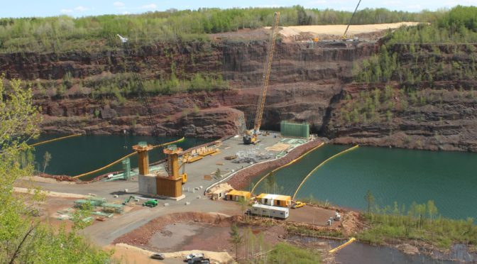 TH 53 Bridge Begins to Rise from the Ground